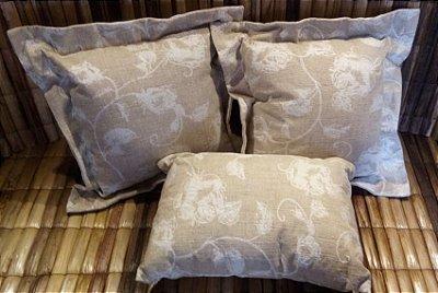 Almofada Rústica Floral - Kit com 3 almofadas