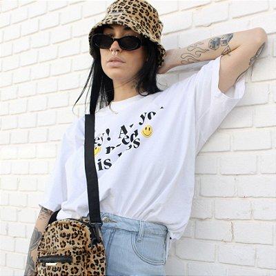 Combo Animal Print: Chapeu Bucket Hat + Shulder Bag