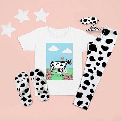 Combo Pijama longo + Camiseta Curta Bezerro