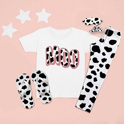 Combo Pijama longo + Camiseta curta Moo