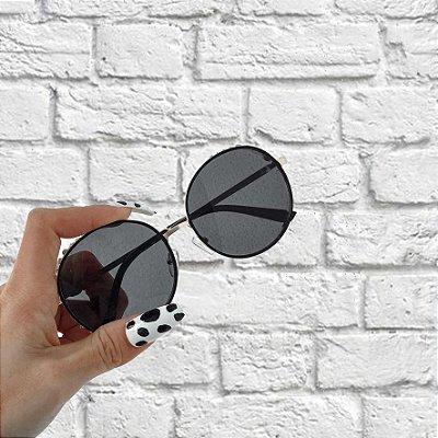 Óculos de Sol Sunglasses Redondo com Pedraria