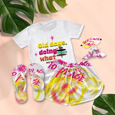 Conjunto Pijama Old Days + Chinelo de dedo