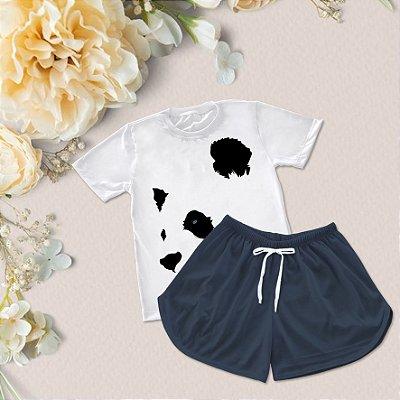 Conjuntinho Pijama Shorts e Camiseta Panda