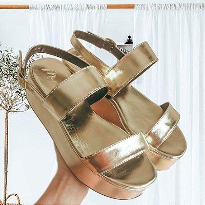 Sandália Shaira Dourada