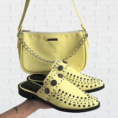 Combo: Mule e Baguete Bolsa Baguete Amarela
