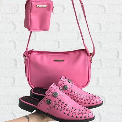 Combo: Mule e Baguete Bolsinha Pink