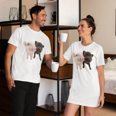 Combo Camisa + Camisola Personalizada Dois Porquinhos