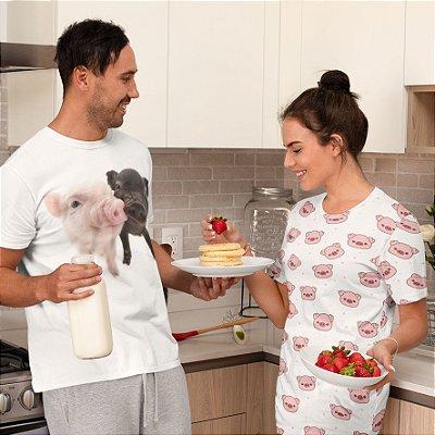 Combo Camisa + Camisola Personalizada Porco