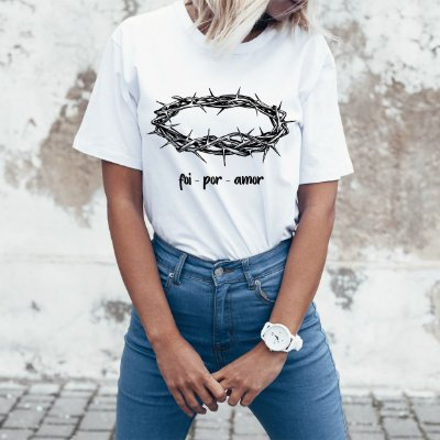 Camiseta Foi por amor