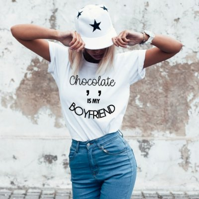 T-Shirt  Chocolate is mt broyfriend