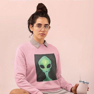 Moletom Peluciado Rosa Alien