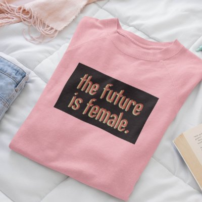 Moletom Peluciado Rosa The Future is Female