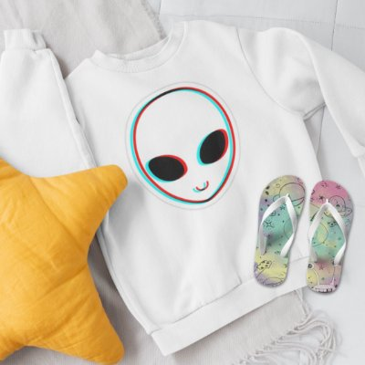Combo Alien Abstract: Moletom + Chinelo