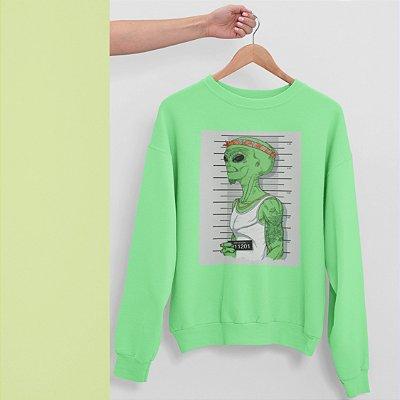 Moletom Peluciado Verde Alien Preso