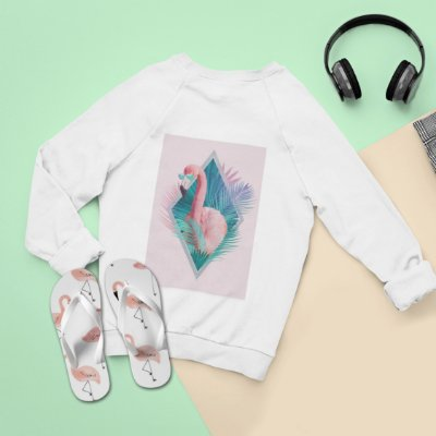 Combo Flamingo: Moletom + Chinelo