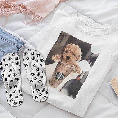 Combo Dog: Moletom + Chinelo