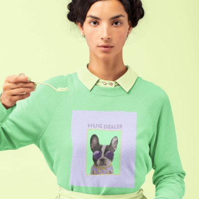 Moletom Peluciado Verde Hug Dealer