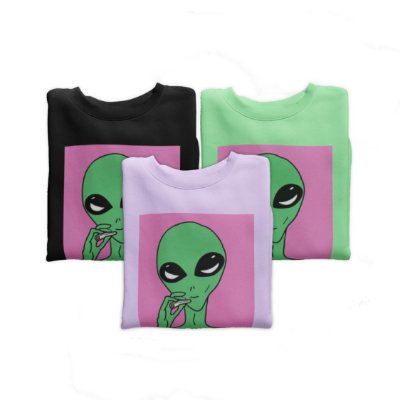 Combo Moletom Peluciado Alien