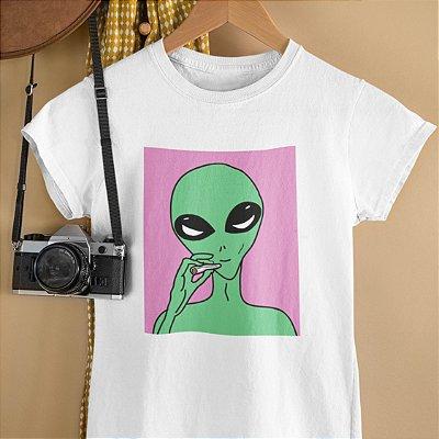 T-Shirt Alien Rosa