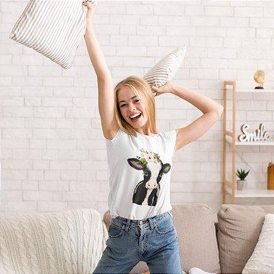 T-Shirt Branca Vaca