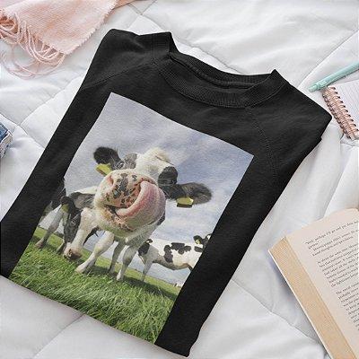 Moletom Peluciado Preto Vaca