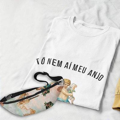 Combo Anjo: T-shirt branca + Pochete