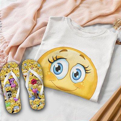 Combo Emoticon: T-shirt  + Chinelo