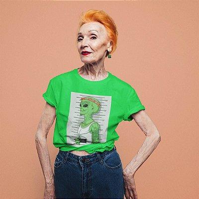 T-Shirt Verde Alien preso