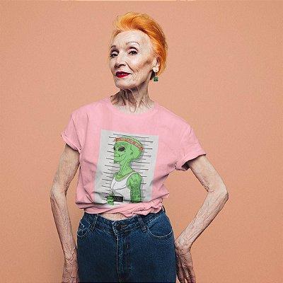 T-Shirt Rosa Alien preso
