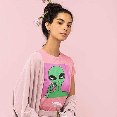 T-Shirt Rosa Alien