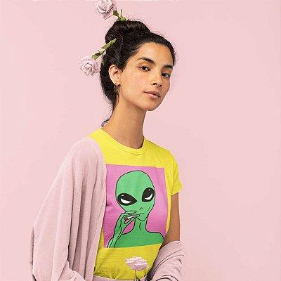 T-Shirt Amarela Alien