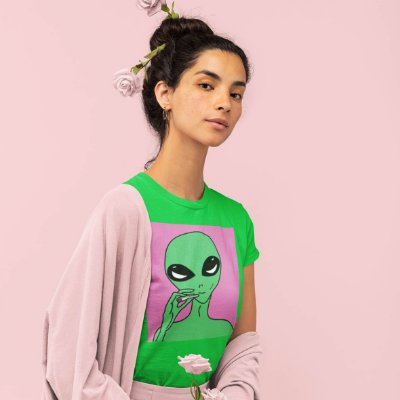 T-Shirt Verde Alien
