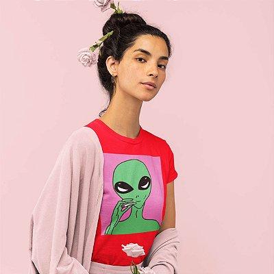 T-Shirt Vermelha Alien