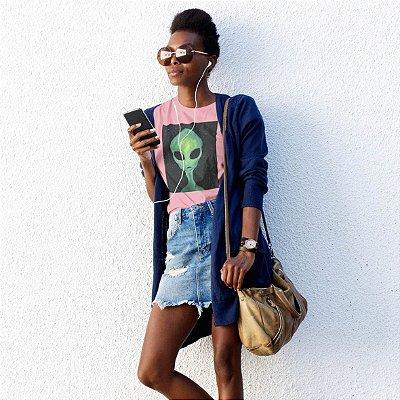 T-Shirt Rosa Alien Verde