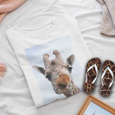 Combo Girafa: Moletom + Chinelo de dedo