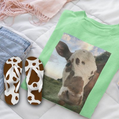 Combo Vaca : Moletom Verde + Chinelo de dedo