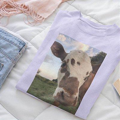 Moletom Peluciado Lilás  Vaca