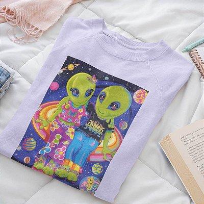 Moletom Peluciado Lilás Alien
