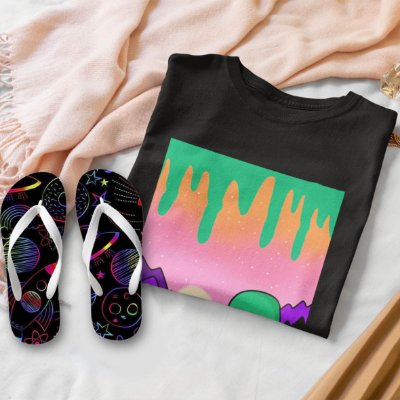 Combo Alien: T-shirt  + Chinelo de dedo