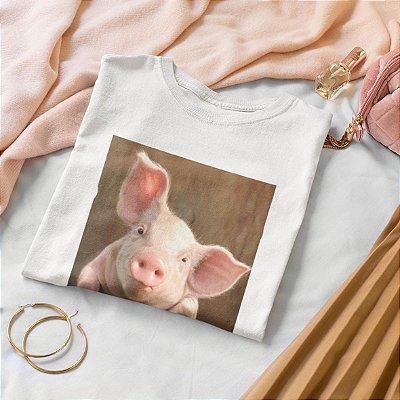 T-Shirt Branca Porco