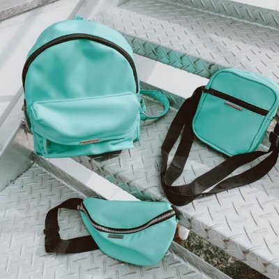 Combo: Mochila + Pochete + Shoulder Bag Menta