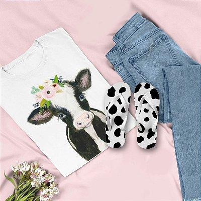 Combo Vaca: T-shirt  + Chinelo de dedo