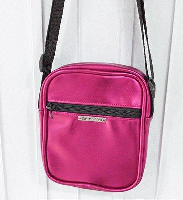 Bolsa Shoulder Bag Unissex Pink Metalizada
