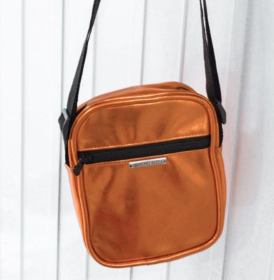 Bolsa Shoulder Bag Unissex Laranja Metalizada