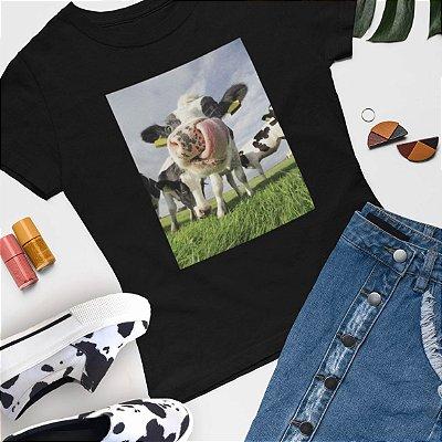 Combo Tshirt Preta + Slip On vaca