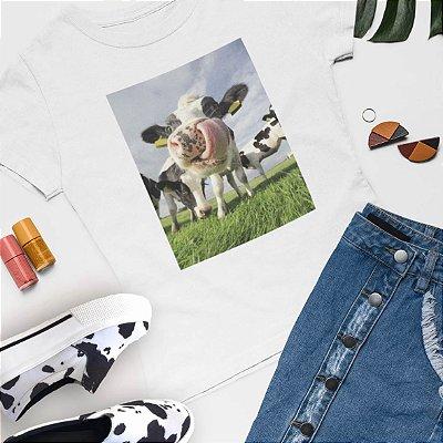 Combo Tshirt Branca + Slip On vaca