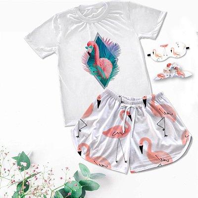 Conjuntinho Pijama Flamingo