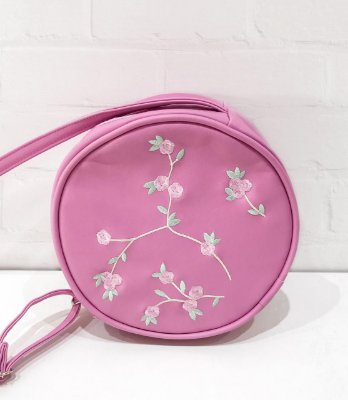 Bag Redonda Rosa Fashion Floral