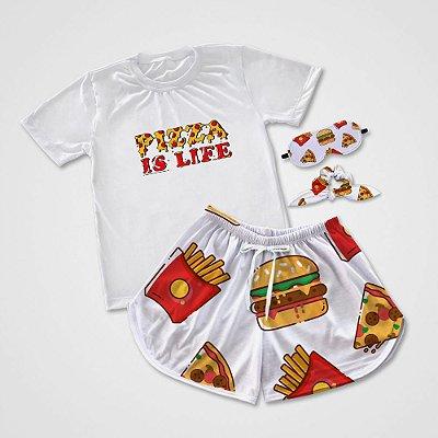 Conjuntinho Pijama Pizza