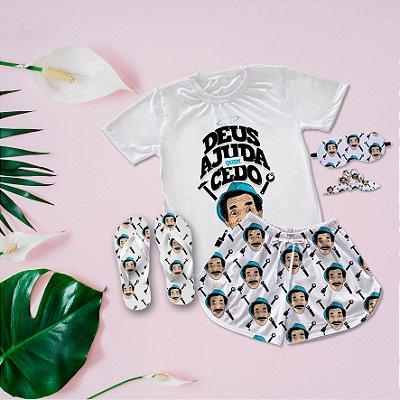 Conjunto Pijama Seu Madruga + Chinelo de dedo